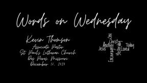 Words on Wednesday - December 16, 2020