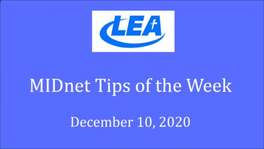 MIDnet Tips of the Week - December 10, 2020