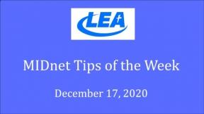MIDnet Tips of the Week - December 17, 2020