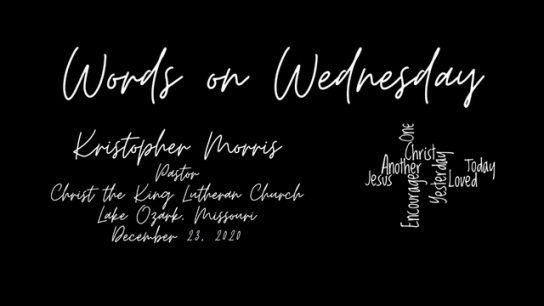 Words on Wednesday - December 23, 2020