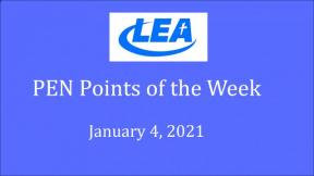 PEN Points of the Week - January 4, 2021