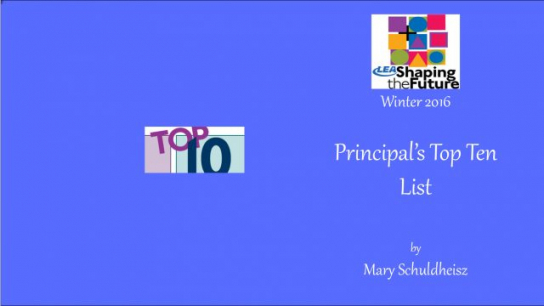 Principal's Top Ten List
