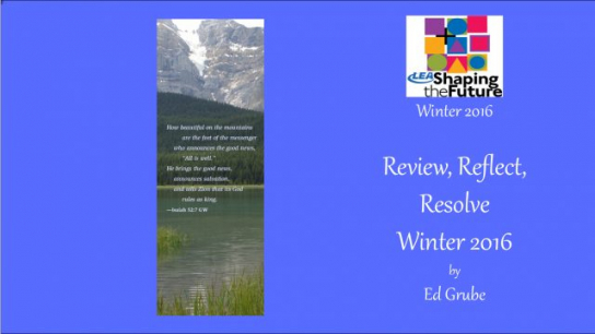 Review, Reflect, Resolve Winter 2016