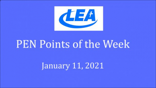 PEN Points of the Week - January 11, 2021