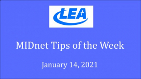 MIDnet Tips of the Week - January 14, 2021