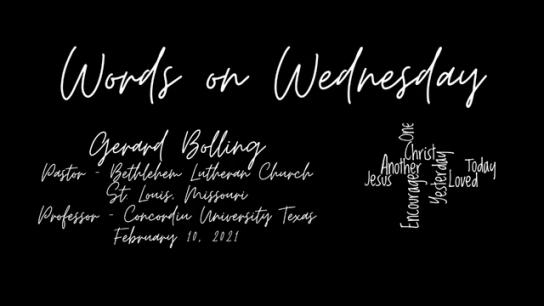 Words on Wednesday - February 10, 2021