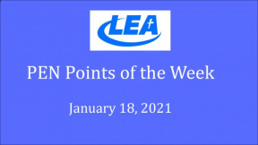 PEN Points of the Week - January 18, 2021