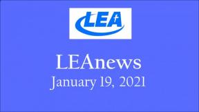 LEA News -January 19, 2021