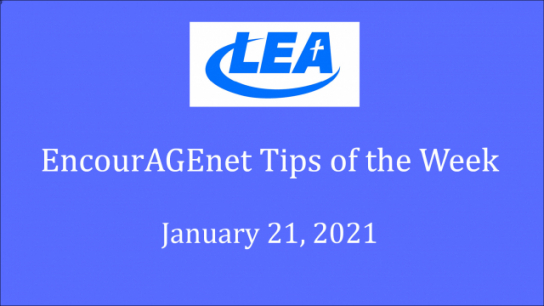 EncourAGEnet Tips of the Week - January 21, 2021