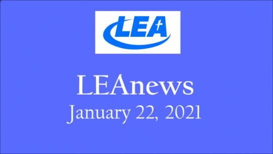 LEA News - January 22, 2021