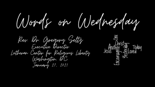 Words on Wednesday - January 27, 2021
