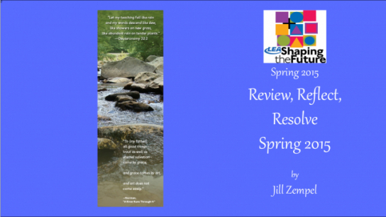 Review, Reflect, Resolve Spring 2015